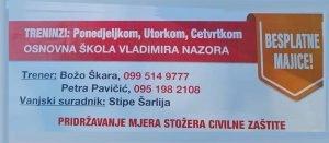 KK Škabrnja upisuje nove polaznike